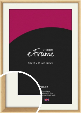 Understated Natural Wood Picture Frame & Mount, 12x18