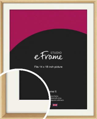Understated Natural Wood Picture Frame & Mount, 14x18