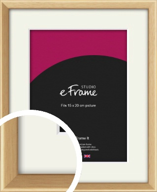 Understated Natural Wood Picture Frame & Mount, 15x20cm (6x8