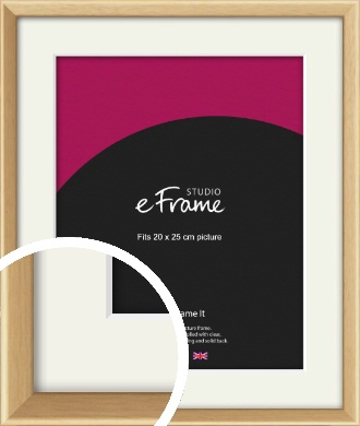 Understated Natural Wood Picture Frame & Mount, 20x25cm (8x10