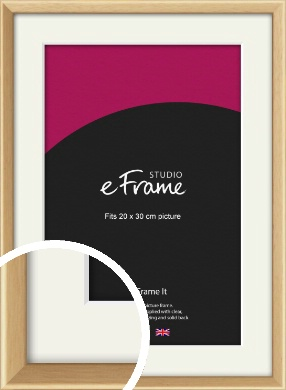 Understated Natural Wood Picture Frame & Mount, 20x30cm (8x12