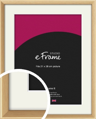 Understated Natural Wood Picture Frame & Mount, 21x28cm (VRMP-333-M-21x28cm)