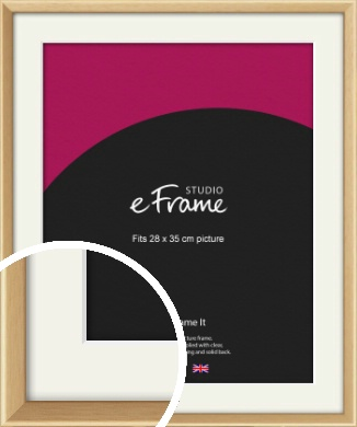 Understated Natural Wood Picture Frame & Mount, 28x35cm (VRMP-333-M-28x35cm)