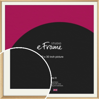 Understated Natural Wood Picture Frame & Mount, 30x30