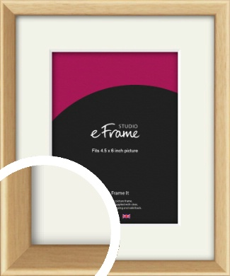 Understated Natural Wood Picture Frame & Mount, 4.5x6