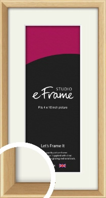 Understated Natural Wood Picture Frame & Mount, 4x10
