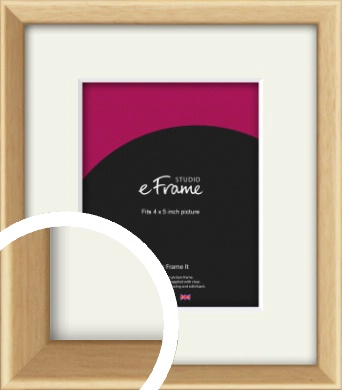 Understated Natural Wood Picture Frame & Mount, 4x5