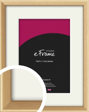 Understated Natural Wood Picture Frame & Mount, 5x7