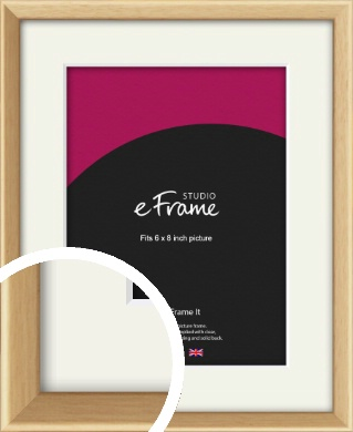 Understated Natural Wood Picture Frame & Mount, 6x8