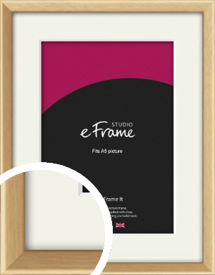 Understated Natural Wood Picture Frame & Mount, A5 (148x210mm) (VRMP-333-M-A5)