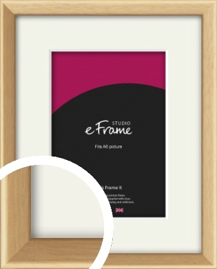 Understated Natural Wood Picture Frame & Mount, A6 (105x148mm) (VRMP-333-M-A6)