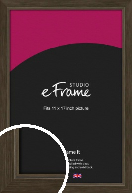 Sleek Warehouse Style Bronze / Copper Picture Frame, 11x17