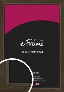 Sleek Warehouse Style Bronze / Copper Picture Frame, 12x18