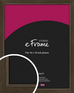 Sleek Warehouse Style Bronze / Copper Picture Frame, 14x18