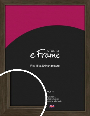 Sleek Warehouse Style Bronze / Copper Picture Frame, 15x20