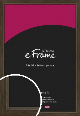 Sleek Warehouse Style Bronze / Copper Picture Frame, 16x24