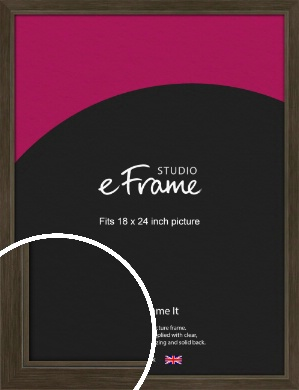 Sleek Warehouse Style Bronze / Copper Picture Frame, 18x24