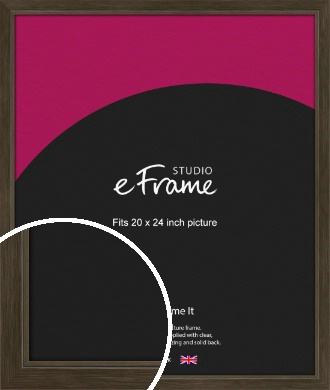 Sleek Warehouse Style Bronze / Copper Picture Frame, 20x24