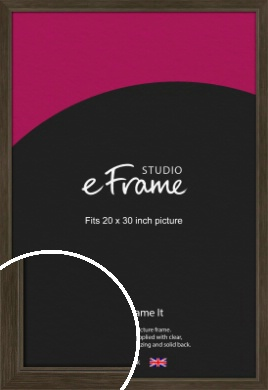Sleek Warehouse Style Bronze / Copper Picture Frame, 20x30