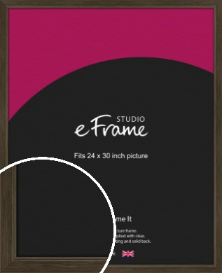 Sleek Warehouse Style Bronze / Copper Picture Frame, 24x30