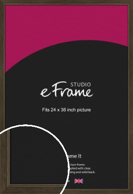 Sleek Warehouse Style Bronze / Copper Picture Frame, 24x36