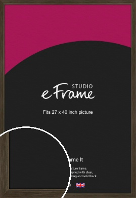Sleek Warehouse Style Bronze / Copper Picture Frame, 27x40