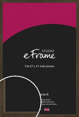 Sleek Warehouse Style Bronze / Copper Picture Frame, 27x41