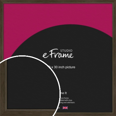 Sleek Warehouse Style Bronze / Copper Picture Frame, 30x30