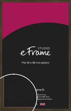 Sleek Warehouse Style Bronze / Copper Picture Frame, 30x48