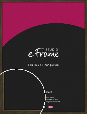 Sleek Warehouse Style Bronze / Copper Picture Frame, 36x48