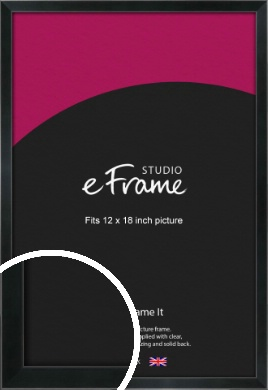 Simple Narrow Black Picture Frame, 12x18