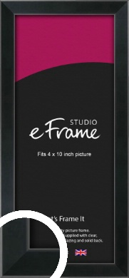 Simple Narrow Black Picture Frame, 4x10