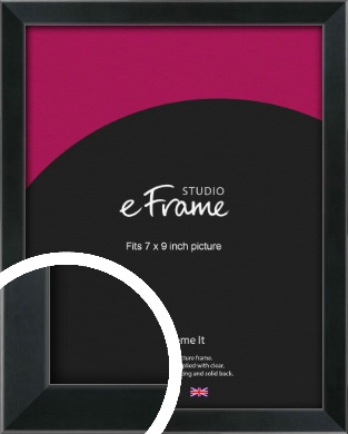 Simple Narrow Black Picture Frame, 7x9