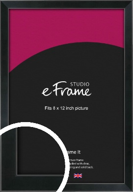 Simple Narrow Black Picture Frame, 8x12