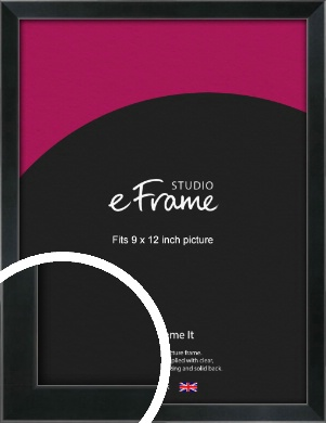 Simple Narrow Black Picture Frame, 9x12