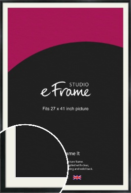 Simple Narrow Black Picture Frame & Mount, 27x41