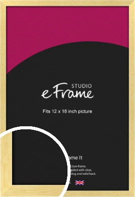 Slim Contemporary Natural Wood Picture Frame, 12x18