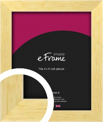Slim Contemporary Natural Wood Picture Frame, 4x5
