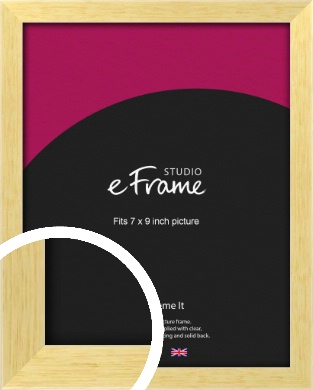Slim Contemporary Natural Wood Picture Frame, 7x9