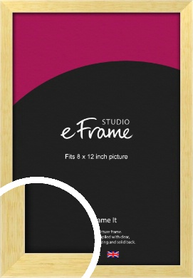 Slim Contemporary Natural Wood Picture Frame, 8x12