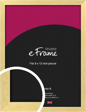 Slim Contemporary Natural Wood Picture Frame, 9x12
