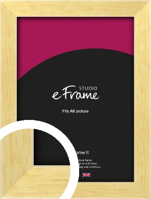 Slim Contemporary Natural Wood Picture Frame, A6 (105x148mm) (VRMP-274-A6)