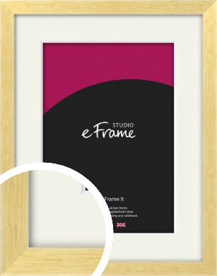 Slim Contemporary Natural Wood Picture Frame & Mount (VRMP-274-M)