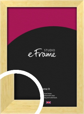 Slim Contemporary Natural Wood Picture Frame (VRMP-274)
