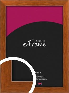 Mid Century Honey Brown Picture Frame (VRMP-539)