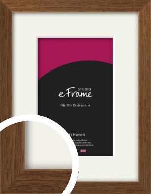 Elegant Timeless Brown Picture Frame & Mount, 10x15cm (4x6