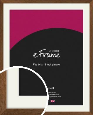 Elegant Timeless Brown Picture Frame & Mount, 14x18