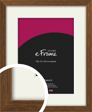 Elegant Timeless Brown Picture Frame & Mount, 15x20cm (6x8