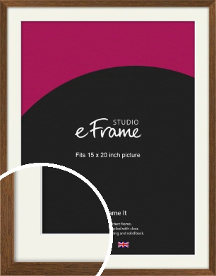 Elegant Timeless Brown Picture Frame & Mount, 15x20