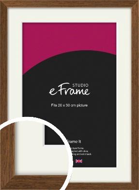 Elegant Timeless Brown Picture Frame & Mount, 20x30cm (8x12